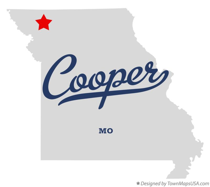 Map of Cooper Missouri MO
