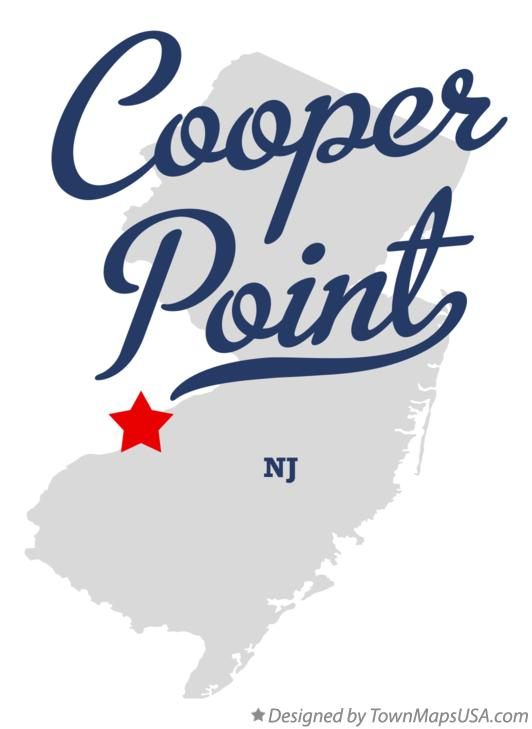 Map of Cooper Point New Jersey NJ