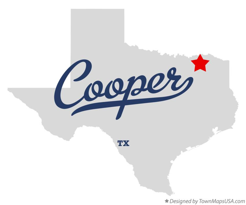 Map of Cooper Texas TX
