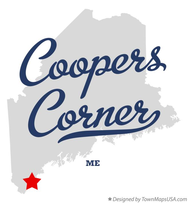 Map of Coopers Corner Maine ME
