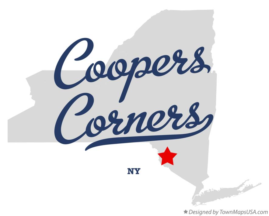 Map of Coopers Corners New York NY