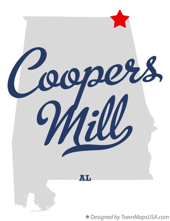 Map of Coopers Mill Alabama AL