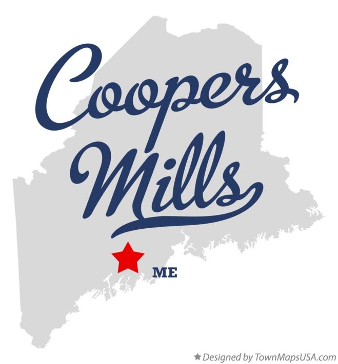 Map of Coopers Mills Maine ME