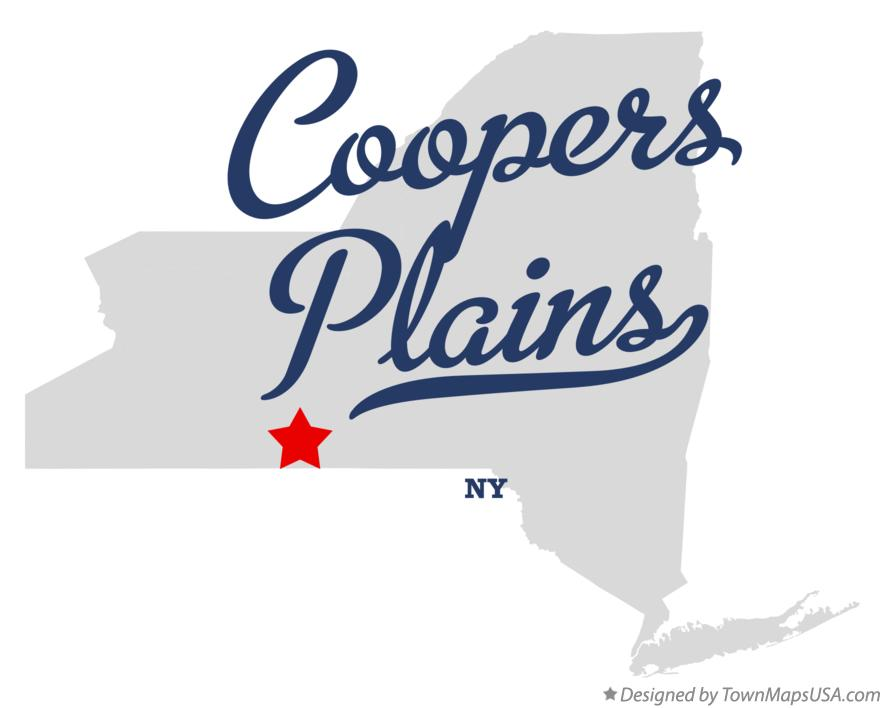 Map of Coopers Plains New York NY