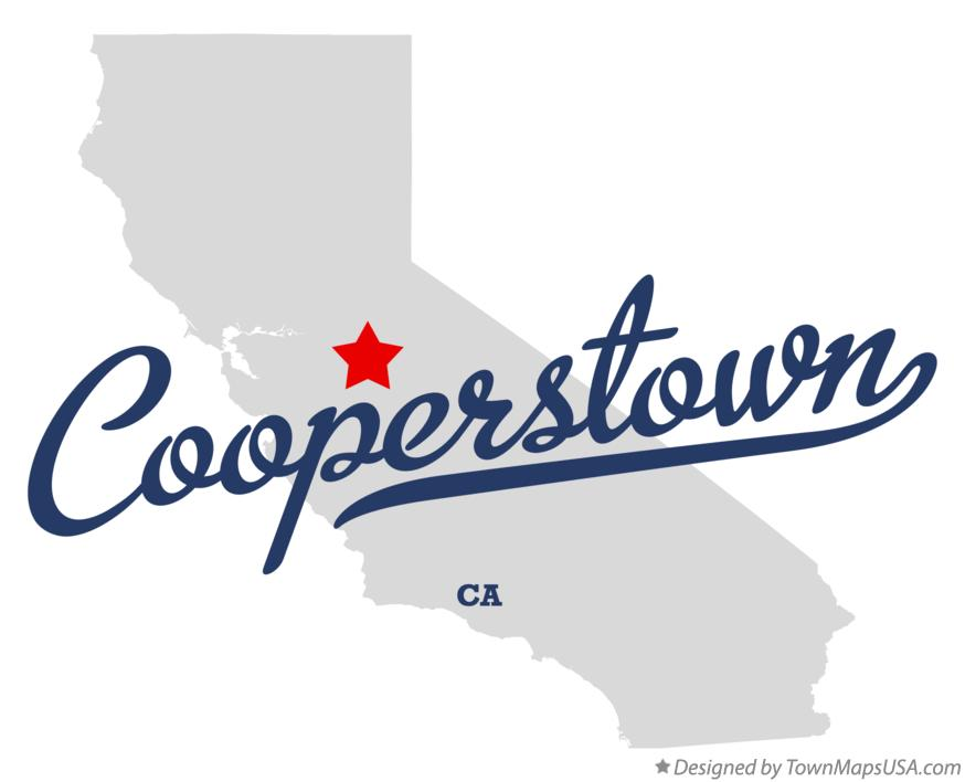 Map of Cooperstown California CA