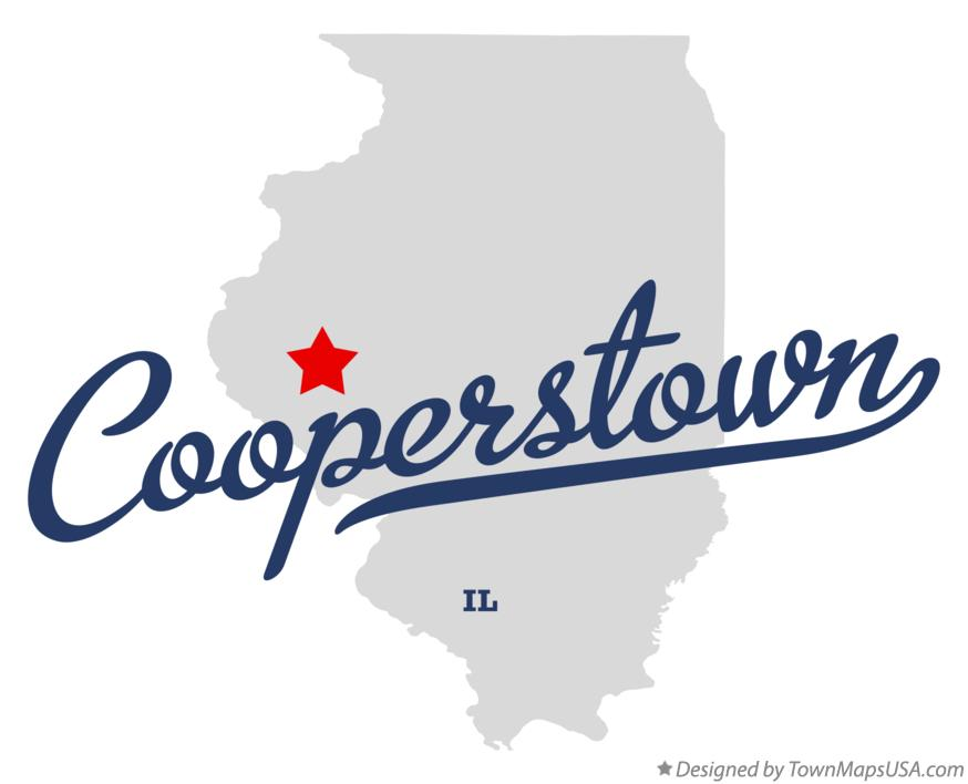 Map of Cooperstown Illinois IL