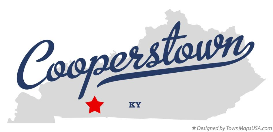 Map of Cooperstown Kentucky KY
