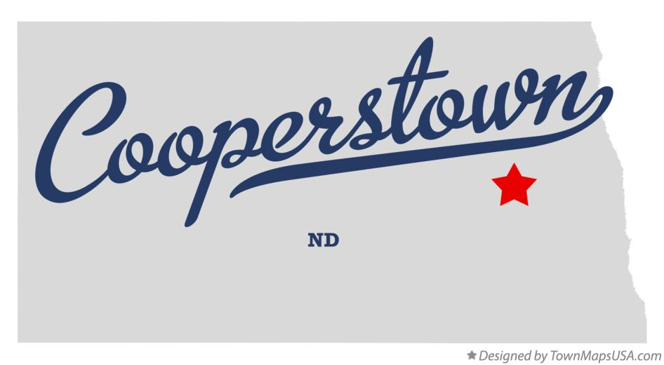 Map of Cooperstown North Dakota ND