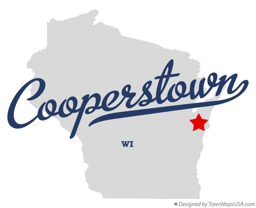 Map of Cooperstown Wisconsin WI