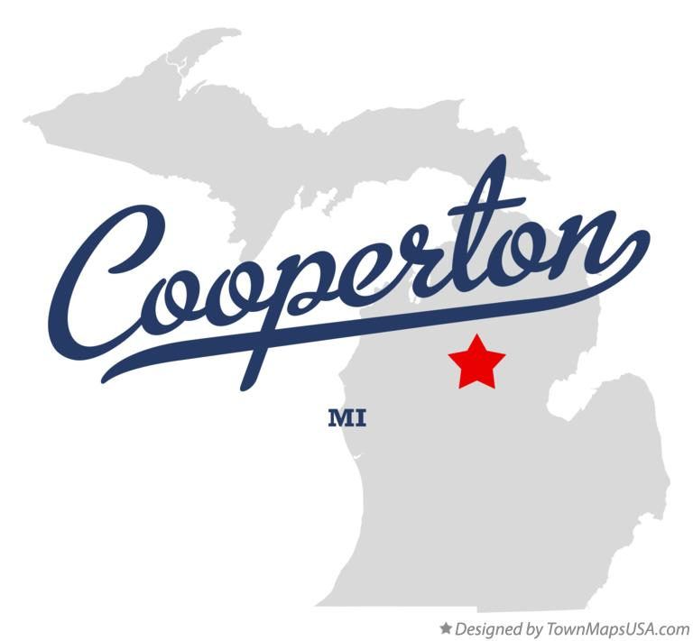 Map of Cooperton Michigan MI