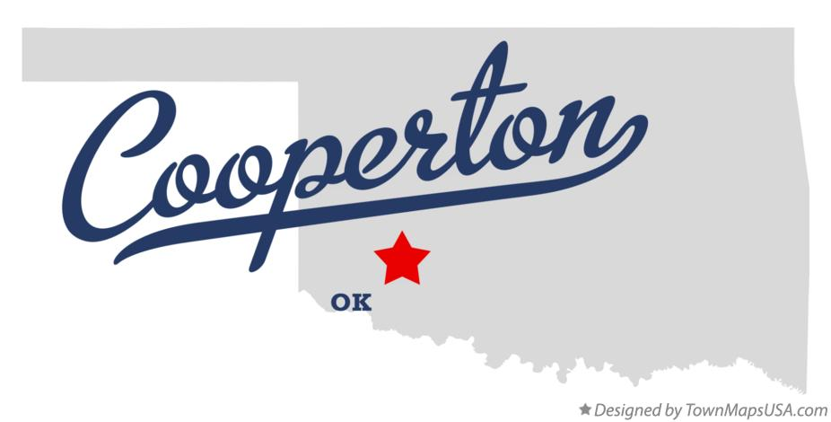 Map of Cooperton Oklahoma OK
