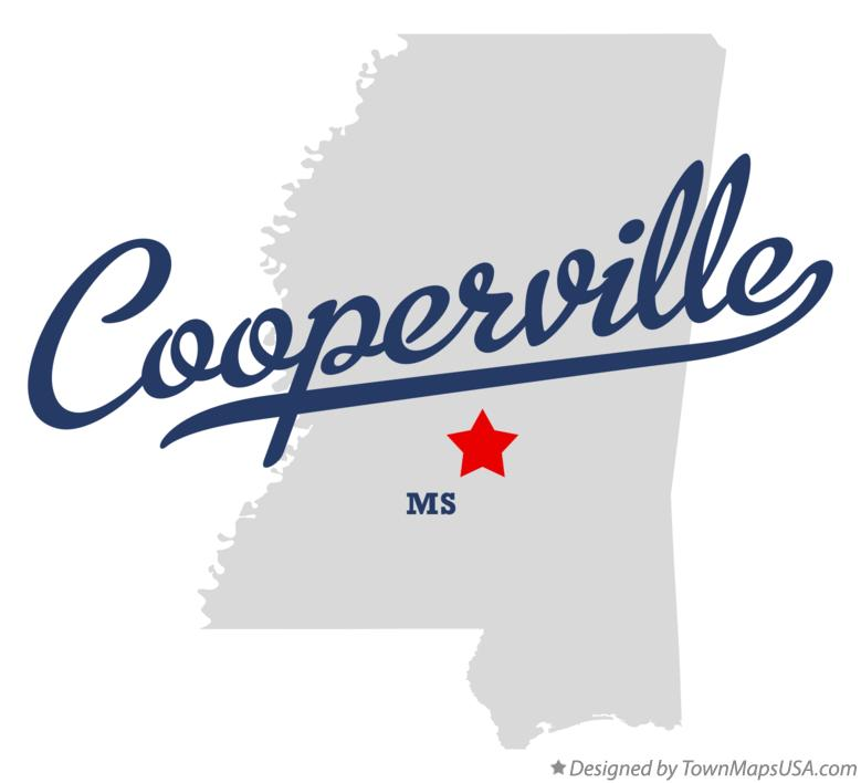 Map of Cooperville Mississippi MS