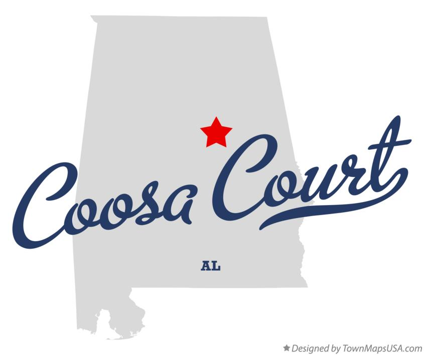 Map of Coosa Court Alabama AL