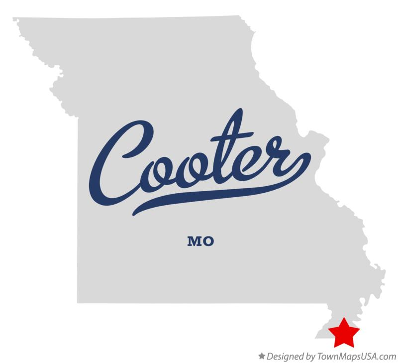 Map of Cooter Missouri MO