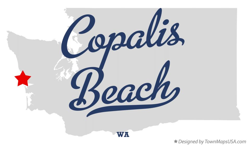 Map of Copalis Beach Washington WA