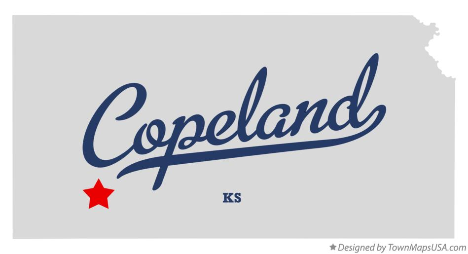 Map of Copeland Kansas KS