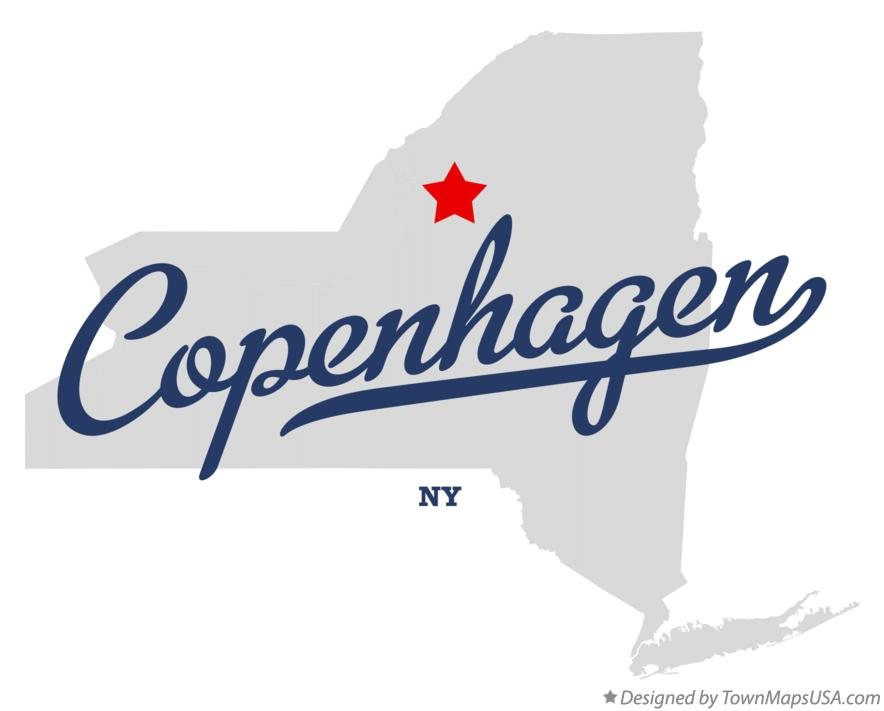 Map of Copenhagen New York NY