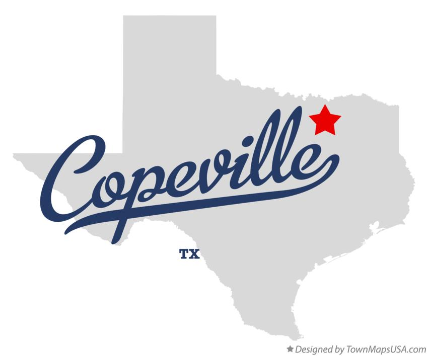 Map of Copeville Texas TX