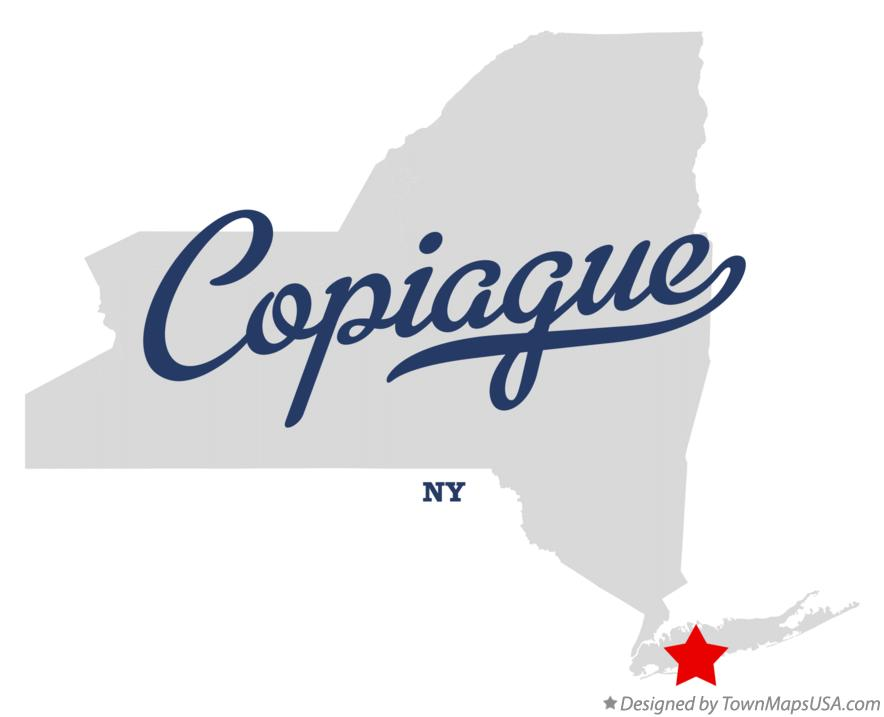 Map of Copiague New York NY