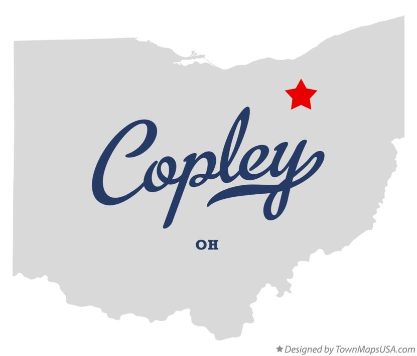 Map of Copley Ohio OH