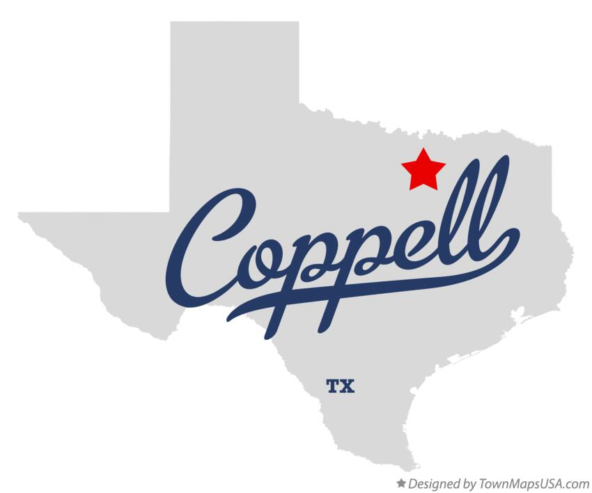 Map of coppell tx texas map of coppell texas tx publicscrutiny Choice Image