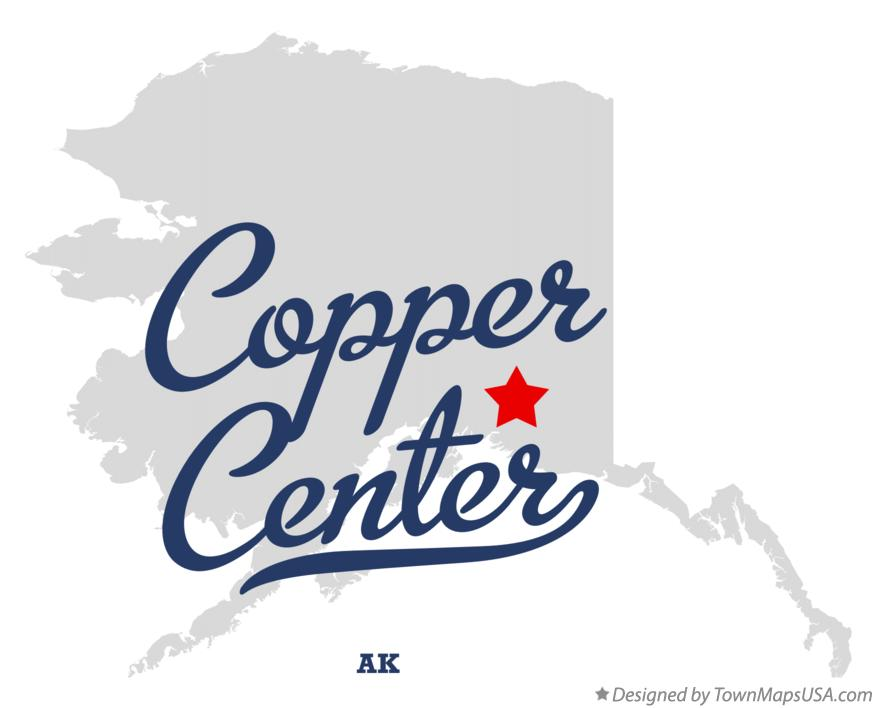 Map of Copper Center Alaska AK