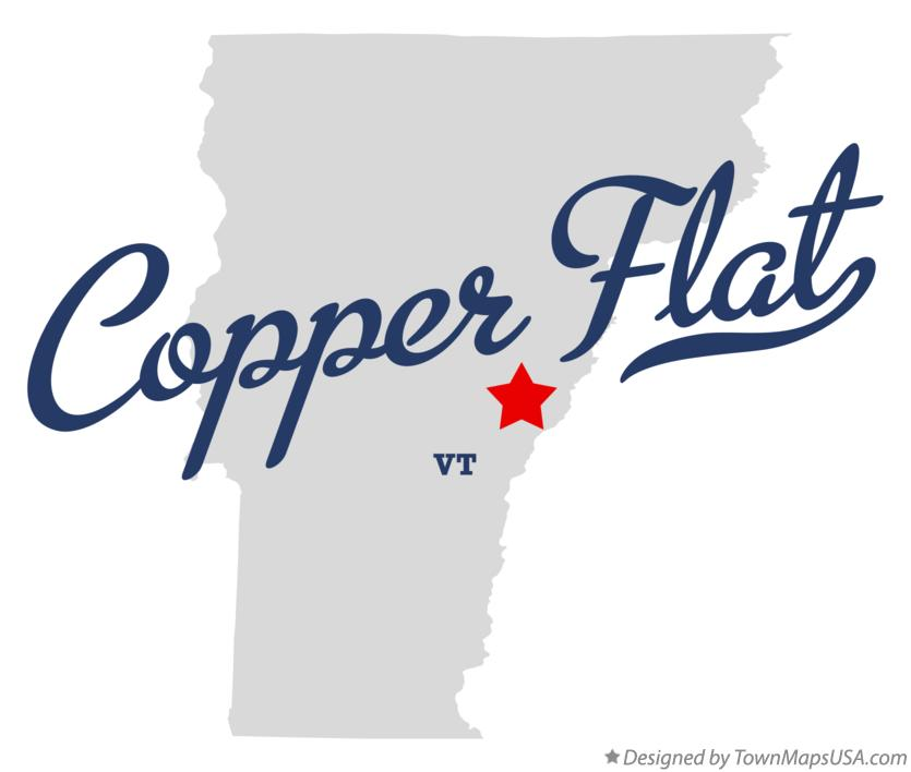 Map of Copper Flat Vermont VT