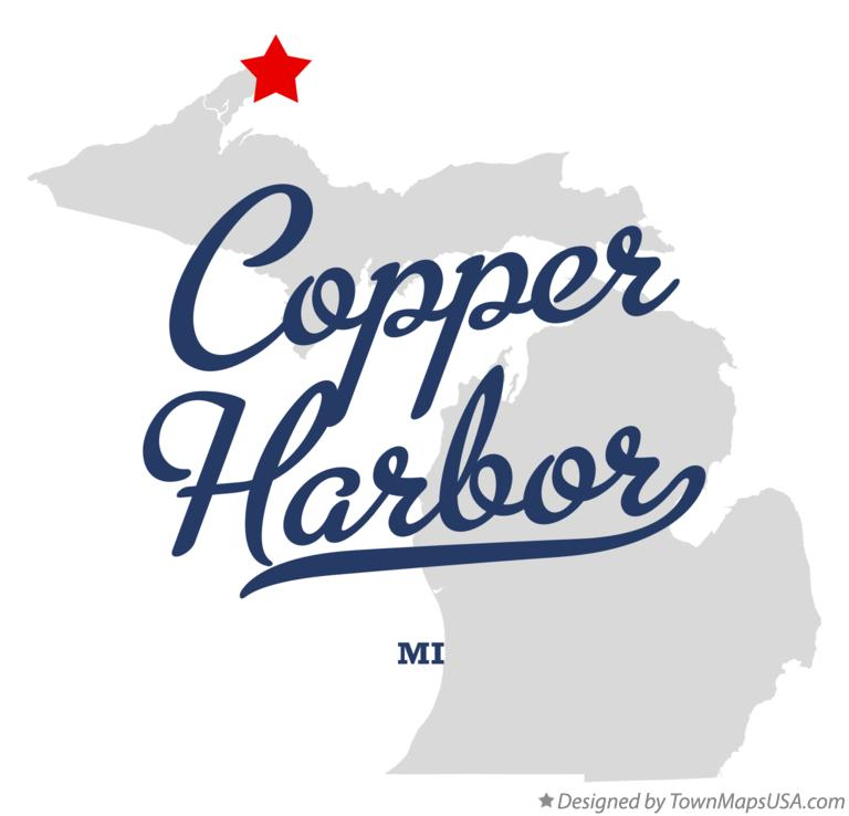 Map of Copper Harbor Michigan MI