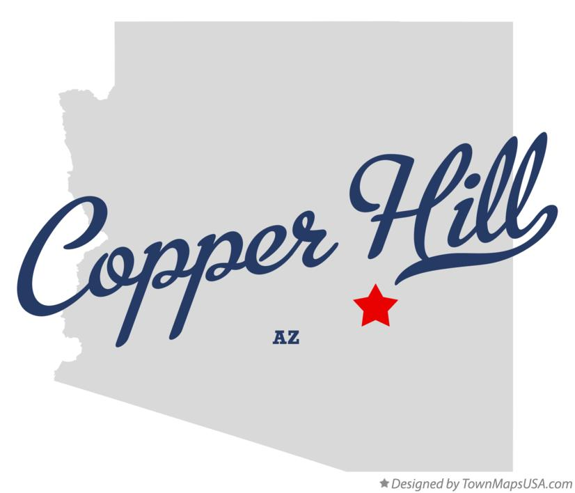 Map of Copper Hill Arizona AZ