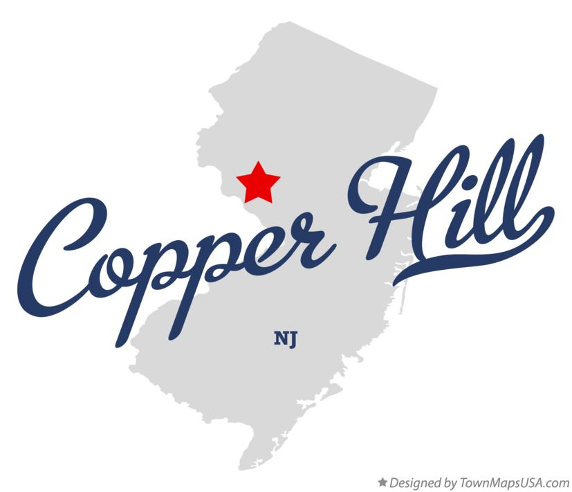Map of Copper Hill New Jersey NJ