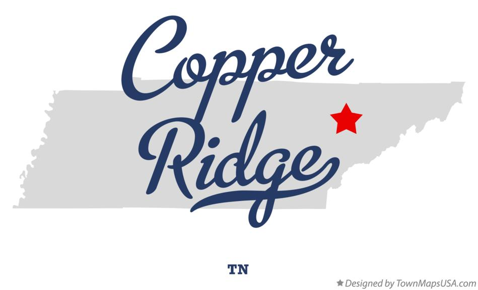 Map of Copper Ridge Tennessee TN