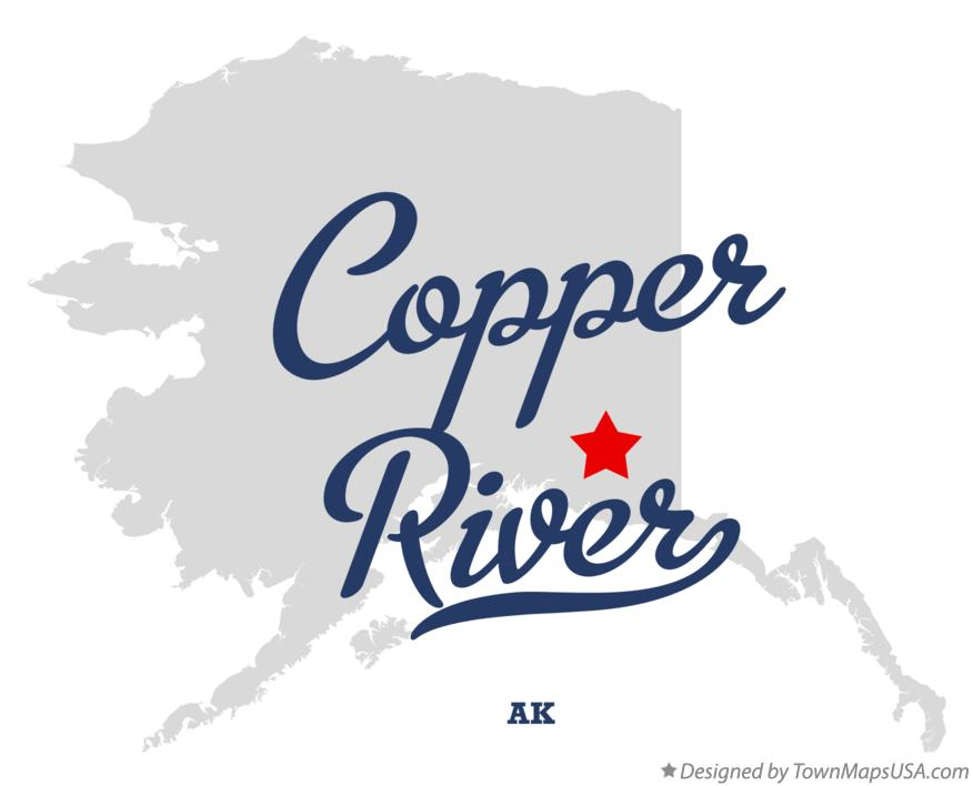 Map of Copper River Alaska AK