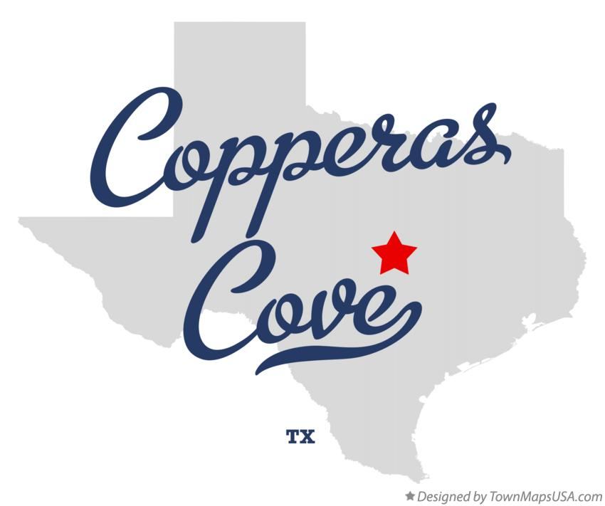 Map of Copperas Cove Texas TX