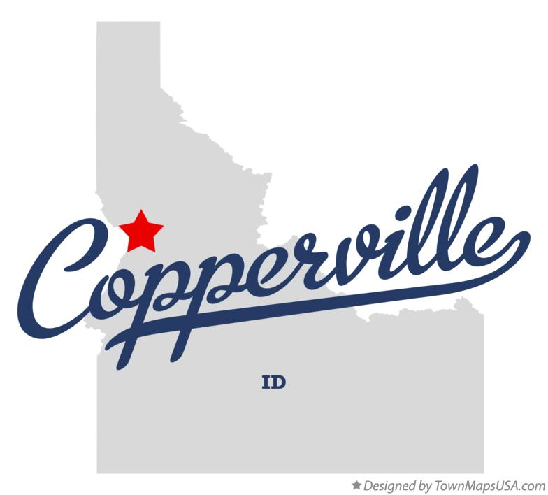 Map of Copperville Idaho ID