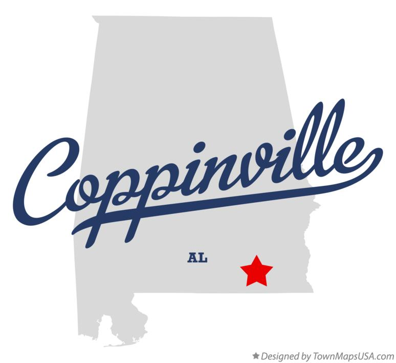 Map of Coppinville Alabama AL