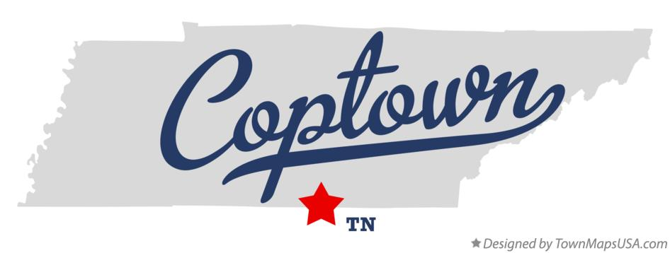 Map of Coptown Tennessee TN