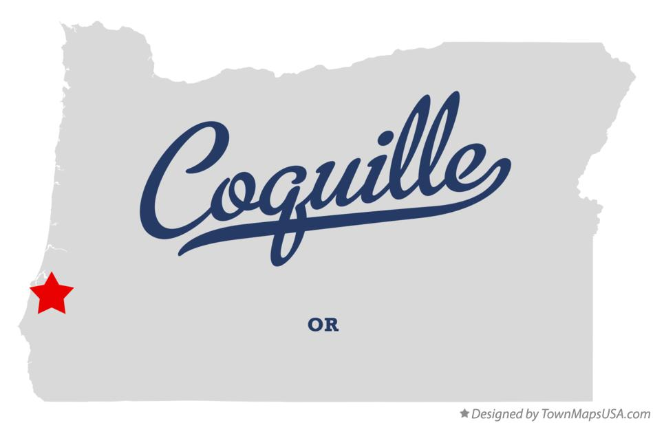 Map of Coquille Oregon OR