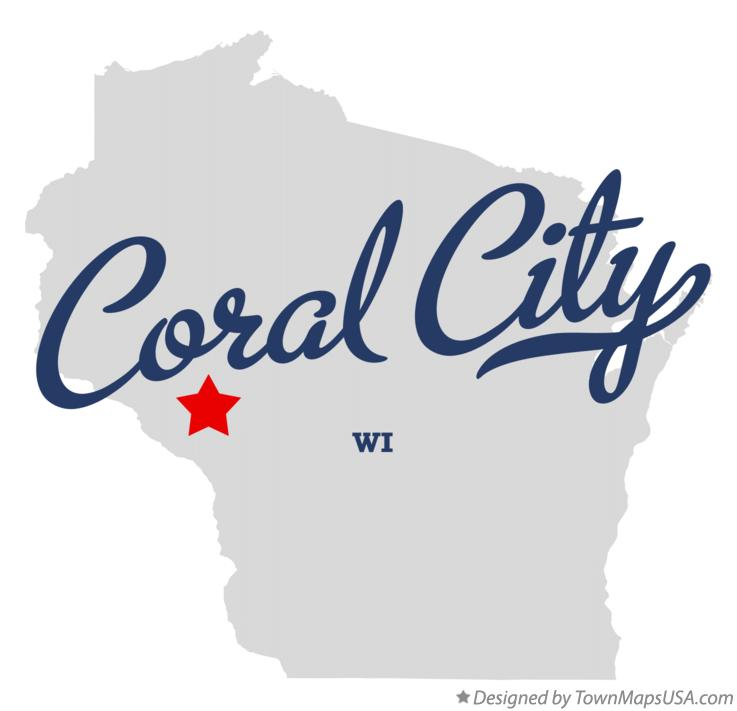 Map of Coral City Wisconsin WI