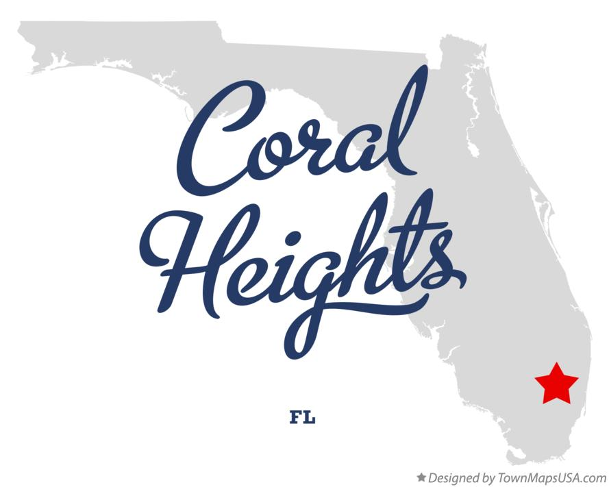 Map of Coral Heights Florida FL