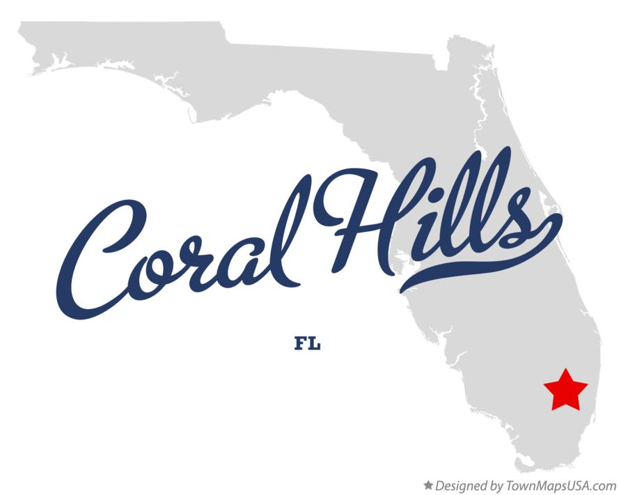 Map of Coral Hills Florida FL