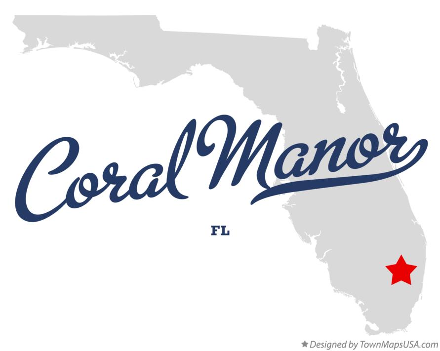 Map of Coral Manor Florida FL
