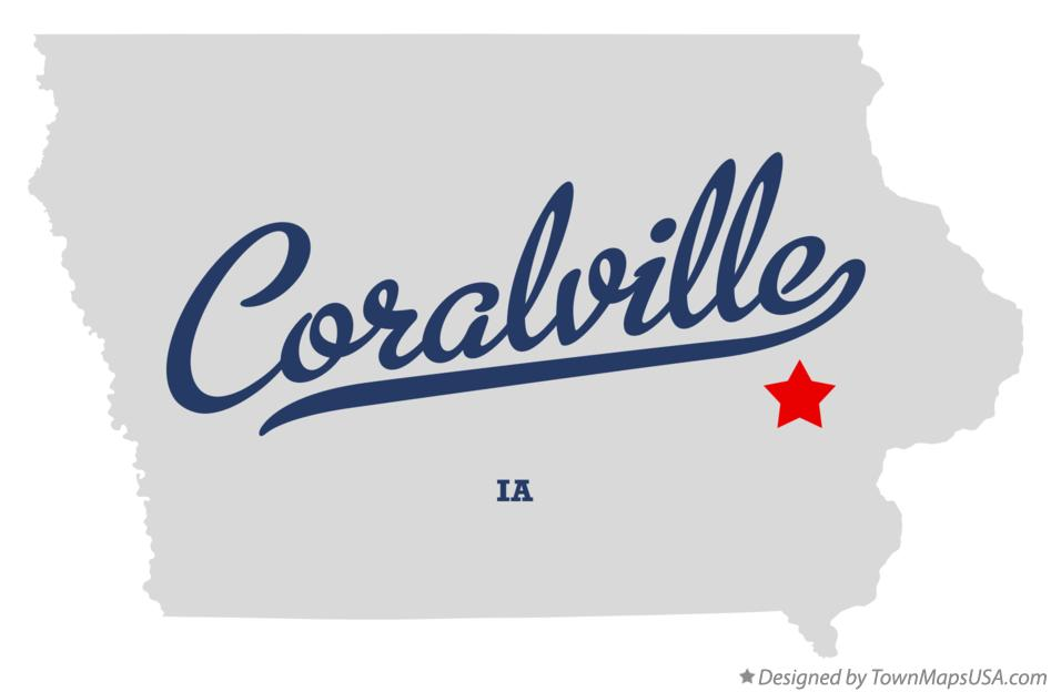 Map of Coralville Iowa IA
