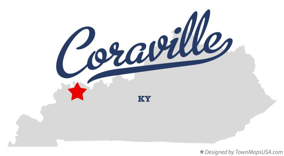 Map of Coraville Kentucky KY