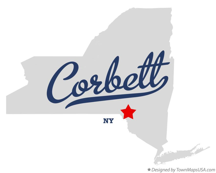 Map of Corbett New York NY