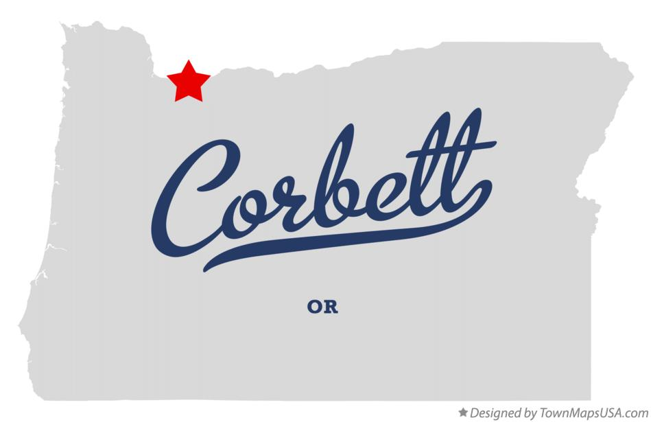 Map of Corbett Oregon OR