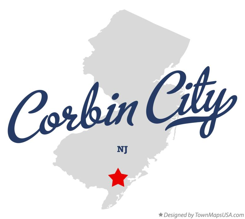 Map of Corbin City New Jersey NJ