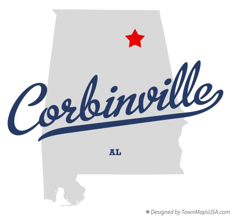 Map of Corbinville Alabama AL
