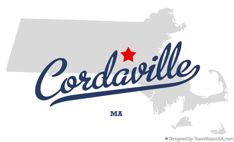Map of Cordaville Massachusetts MA