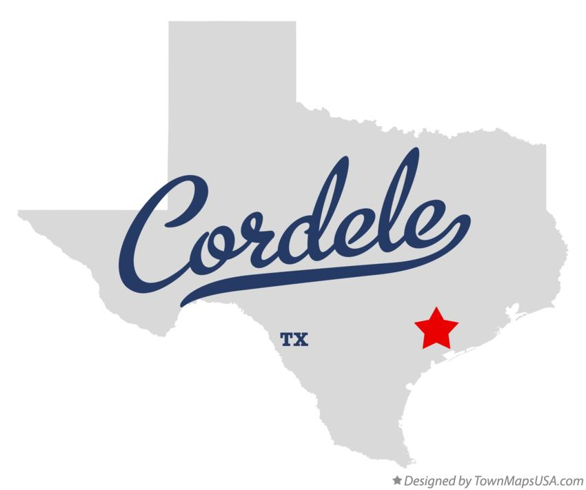 Map of Cordele Texas TX