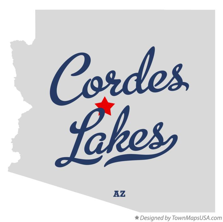 Map of Cordes Lakes Arizona AZ